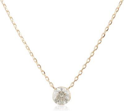 agete(アガット)K18ダイヤモンドネックレス