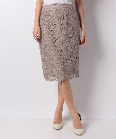 JUSGLITTY(ジャスグリッティー)ケミカルフラワーレースタイトスカート