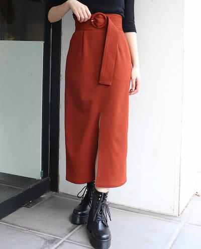 MURUA(ムルーア)ベルテッドペンシルスカート