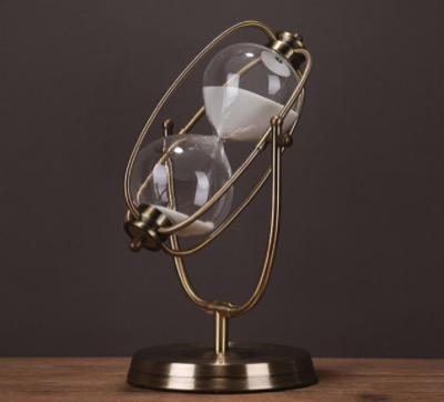 レトロな錬鉄製アート砂時計