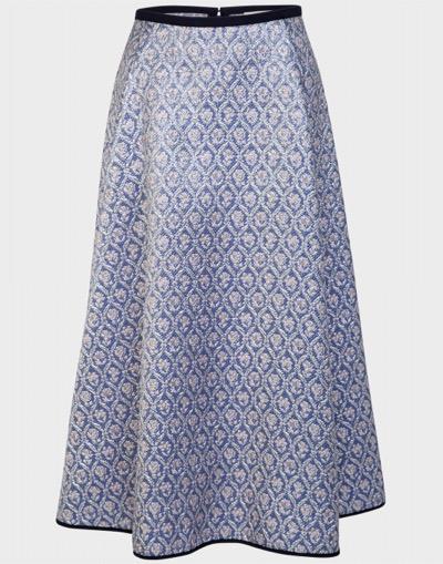 ODEEHBrocade Skirt Periwinkle Blue