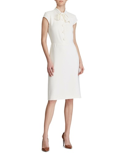 Ralph Lauren CollectionCarlisle Cap-Sleeve Shirtdress
