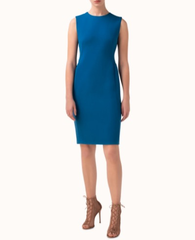 AKRISウールクレープ・ドレス