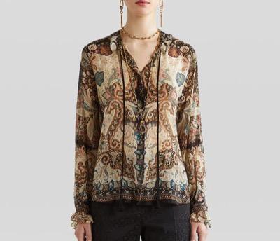 ETROペイズリープリント シャツ