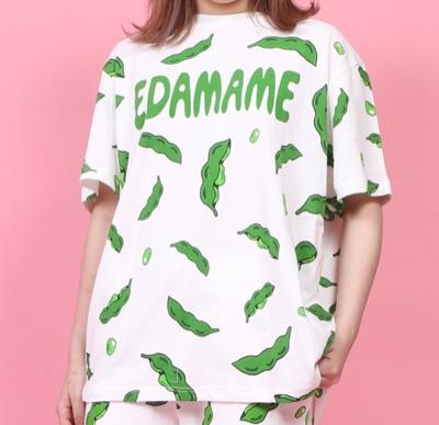 PUNYUS(プニュズ)フード総柄Tシャツ