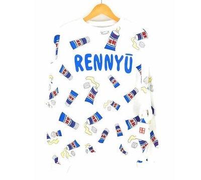 PUNYUSフード総柄スウェット「RENNYU(練乳)」