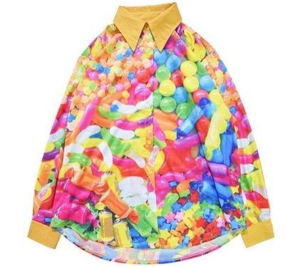 ACDCRAGPOPキャンディBIGシャツ 原宿系 ファッション シャツ ブラウス