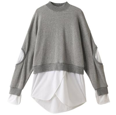 nagonstans(ナゴンスタンス)Soft Sweatシャツコンビプルオーバー