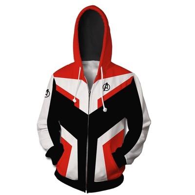 アベンジャーズ4 量子戦闘服 コスプレ衣装 量子戦衣コンセプト フードパーカー ジャージ 3Dプリント