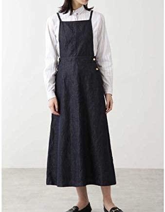 HUMAN WOMAN(ヒューマンウーマン)綿麻反応染めライトデニムスカート