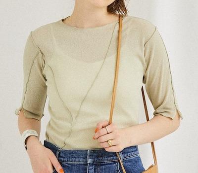 PUBLIC TOKYOメローシアー半袖Tシャツ