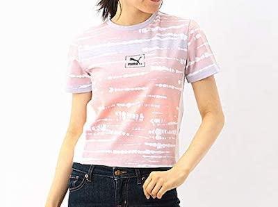 PUMA(プーマ)レディースカジュアルSSシャツ(TIE DYE AOP WS Tシャツ)