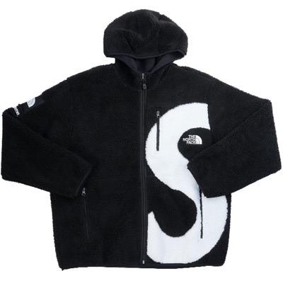 Supreme × The North Face Logo Hooded Fleece Jacket