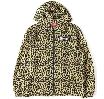 Supreme (シュプリーム)Cheetah pattern nylon food jacket (Skew Hooded Nylon Jacket)
