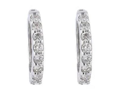 festaria bijou SOPHIAK18ホワイトゴールド ダイヤモンド イヤリング