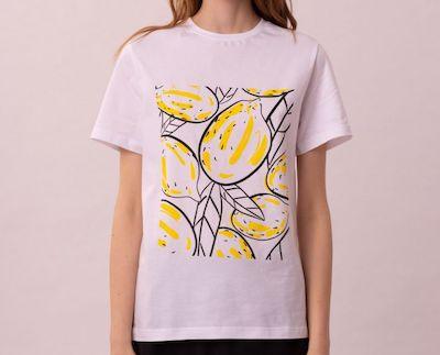NEHERAUnisex lemons square t-shirt