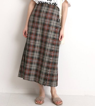 SLOBE IENA【GLEN FYNE/グレン ファイン】SLOBE別注 プリーツスカート