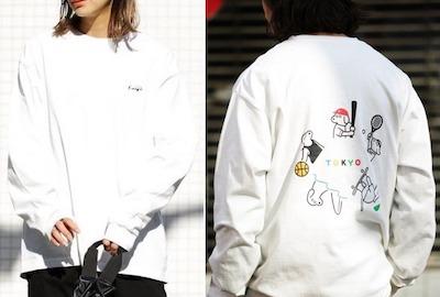 松本セイジ×FREAK'S STORE別注TOKYO SPORTS DOG バックプリント ロングスリーブTシャツ