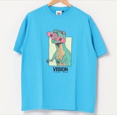 VISION STREET WEARオリジナルデザイン フロントプリント 半袖Tシャツ