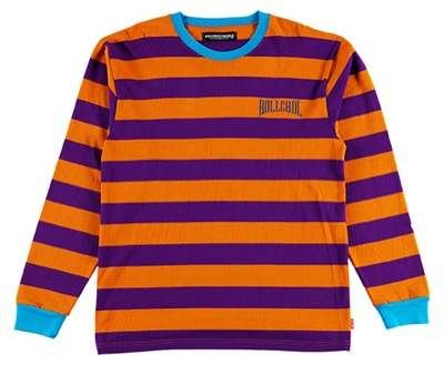 Rolling Cradle BORDER LONG T-SHIRT / Orange