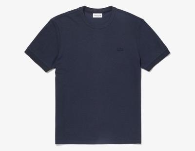 LACOSTE(ラコステ)レギュラーフィット コットン×シルクブレンドクルーネックTシャツ