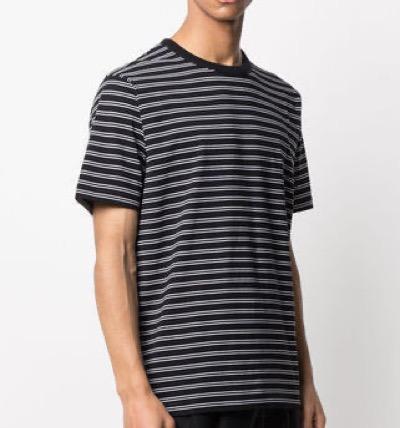 Dries Van Noten(ドリス ヴァン ノッテン)【20SS】DRIES VAN NOTEN コットン ブラック ストライプ Tシャツ