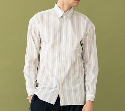 UNITED TOKYOシャツ ブラウス マルチストライプロングスリーブシャツ