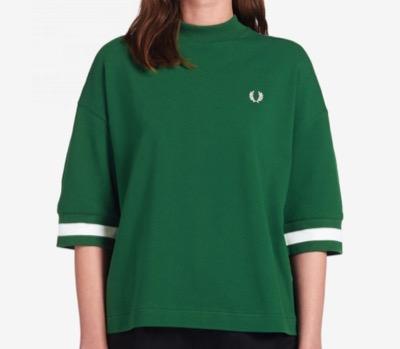 FRED PERRYOversized Piqué T-Shirt