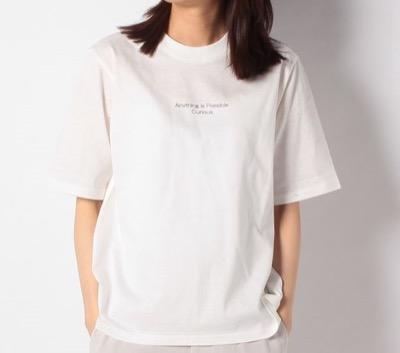 BEATRICE(ベアトリス) リブネックコットンロゴTシャツ