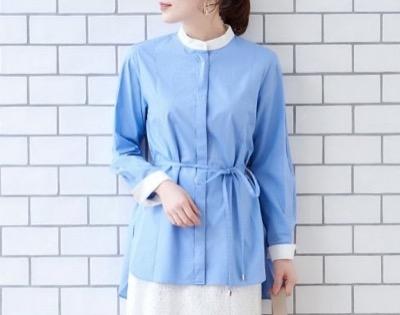【サックスブルーのシャツ】ドラマ公式インスタグラムで着ていたファッションアイテム(これから着用予定の衣装)