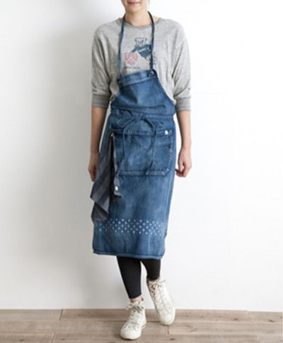 Simply STAR DENIM APRON(LONG)