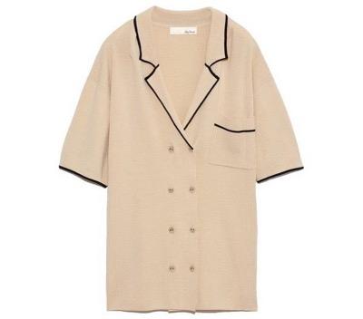 Lily Brown(リリーブラウン)ラインニットシャツ 20春夏