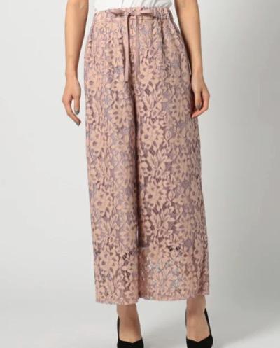 MEW'S REFINED CLOTHESレースワイドパンツ