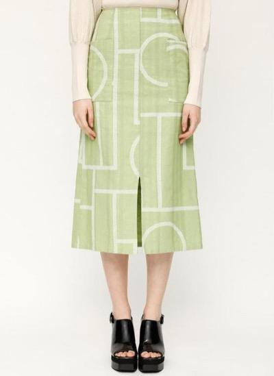 SLY(スライ)HELENA LINE PK SLIT ロングスカート