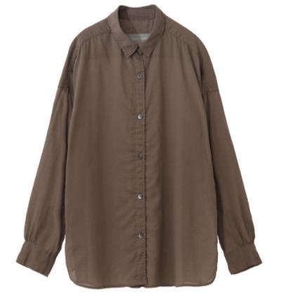 PLAIN PEOPLEコットンボイルローンシャーリングシャツ