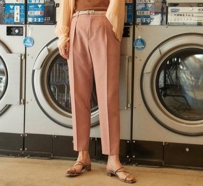 PUBLIC TOKYOスラックス 極 センタープレスが消えないテーパードパンツ/センタープレスパンツ