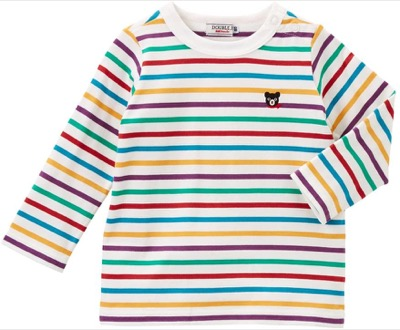 MIKIHOUSE(ミキハウス) 【ダブルB】 Everyday Double_B ボーダー長袖Tシャツ