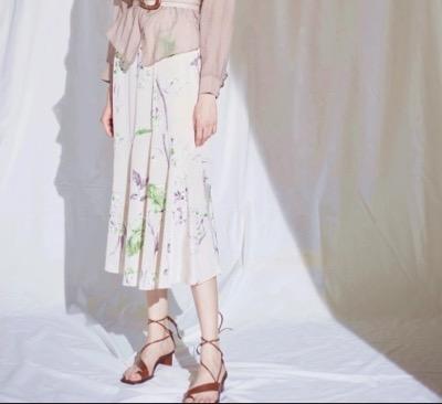 LADYMADE(レディメイド)Blooming Flower アシメセミフレアスカート