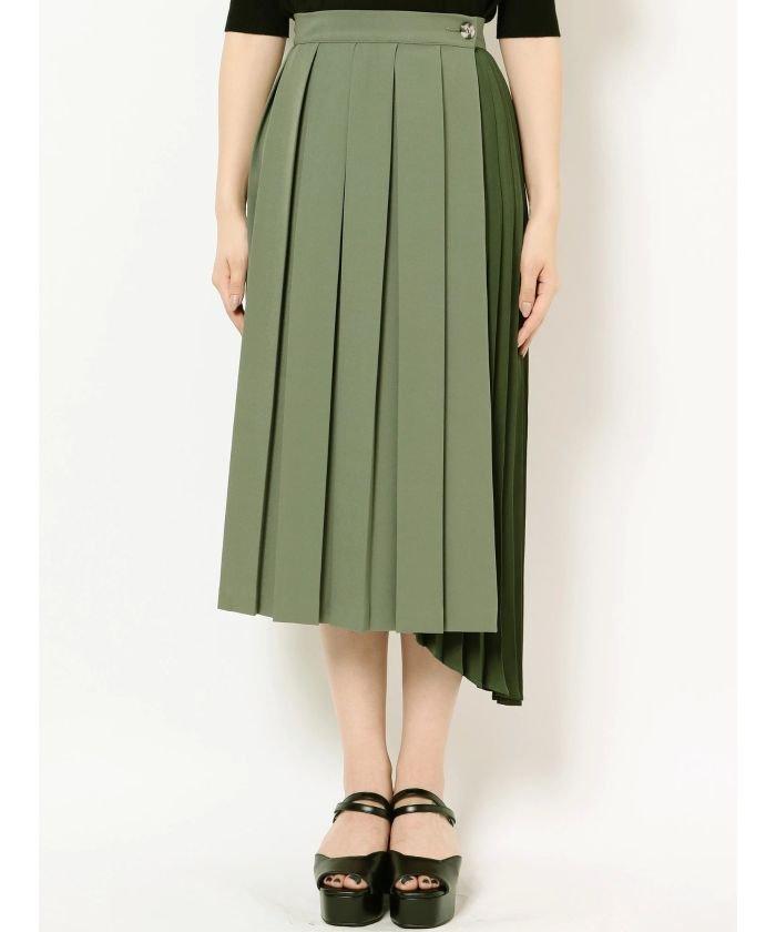 MURUA(ムルーア)コントラストプリーツスカート
