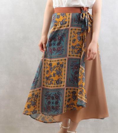 MyLankaパネルプリントデザインスカート
