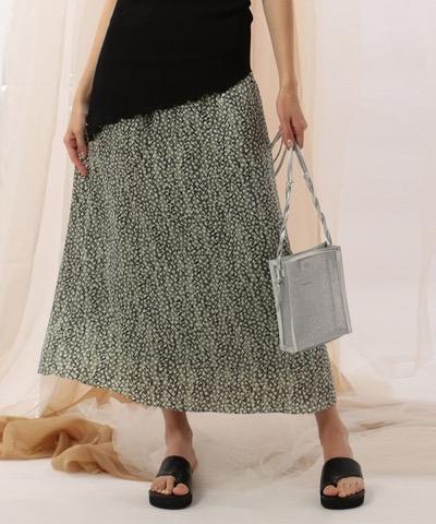 NINEヘリンボーンドットプリントスカート