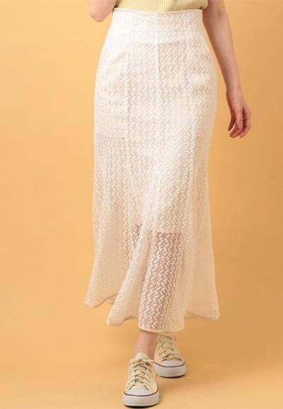 me&me coutureフローラエンブロイダリースカート