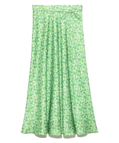 Mila Owen(ミラオーウェン)フラワープリントサテンロングスカート