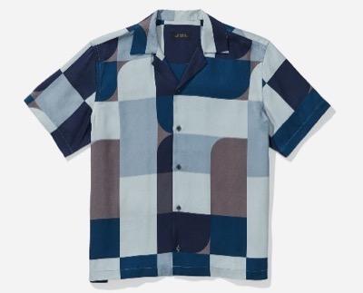 Saturdays NYCシャツ ブラウス Canty Geoblock S/S Shirt