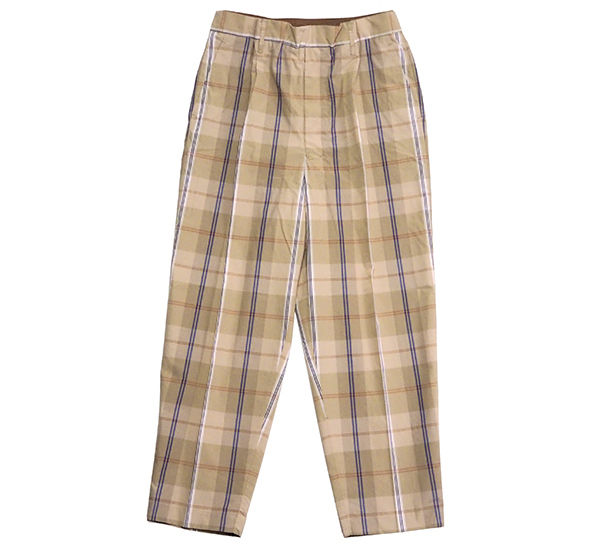 UNITUS(ユナイタス)UTSSS20-P05/Easy Dress Pants (Plaid Check)