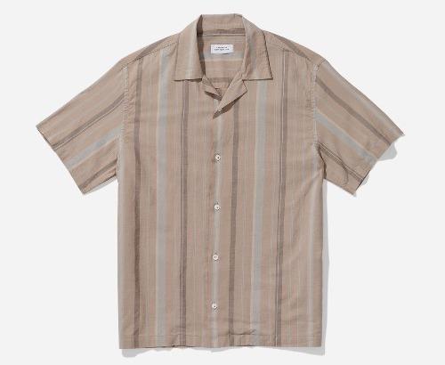 Saturdays NYCシャツ ブラウス Canty Bay Stripe S/S Shirt