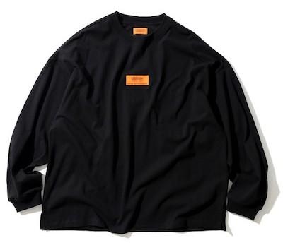 UNIVERSAL OVERALL別注センターボックスロゴ ロングスリーブTシャツ/ビッグシルエット