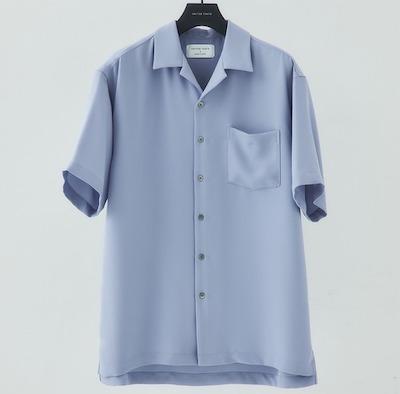 UNITED TOKYODRYツイルオープンカラーシャツ