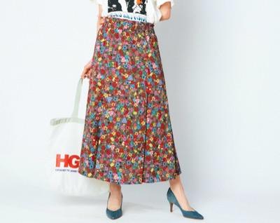 HYSTERIC GLAMOURMAGICAL LAND柄 マーメイドロングスカート