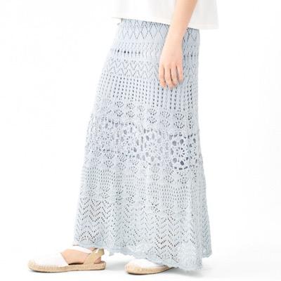 flowersunny crochet skirt ~サニークロシェスカート